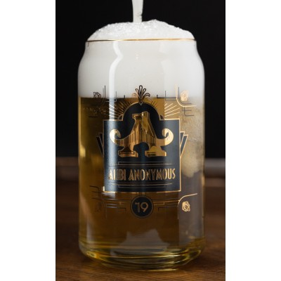 16 oz Alibi Anonymous 2019 Collector's Can Glass